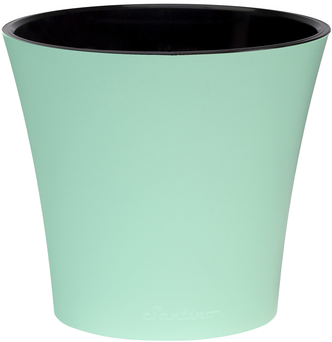 Горшок для цветов Santino Арте, двойной, с системой автополива, цвет: мятный, черный, 1,2 лАРТ 1,2 М-ЧЛюбой, даже самый современный и продуманный интерьер будет незавершенным без растений. Они не только очищают воздух и насыщают его кислородом, но и украшают окружающее пространство. Горшок Santino выполненный из высококачественного пластика, предназначен для выращивания комнатных цветов, растений и трав.Инновационная система автополива обладает рядом преимуществ: экономит время при уходе за растением, вода не протекает при поливе, и нет необходимости в подставке, корни не застаиваются в воде.Такой горшок порадует вас современным дизайном и функциональностью, а также оригинально украсит интерьер любого помещения.