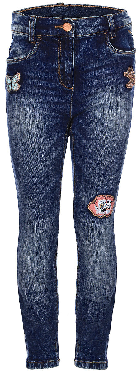 Джинсы для девочки Tom Tailor, цвет: синий. 6205854.00.81_1094. Размер 1046205854.00.81_1094Стильные джинсы для девочки Tom Tailor, выполненные из высококачественного материала, станут отличным дополнением к гардеробу вашего ребенка. Модель облегающего кроя и стандартной посадки на талии застегиваются на пуговицу и имеют ширинку на застежке-молнии. На поясе имеются шлевки для ремня. Спереди два втачных кармана и два накладных кармана сзади.