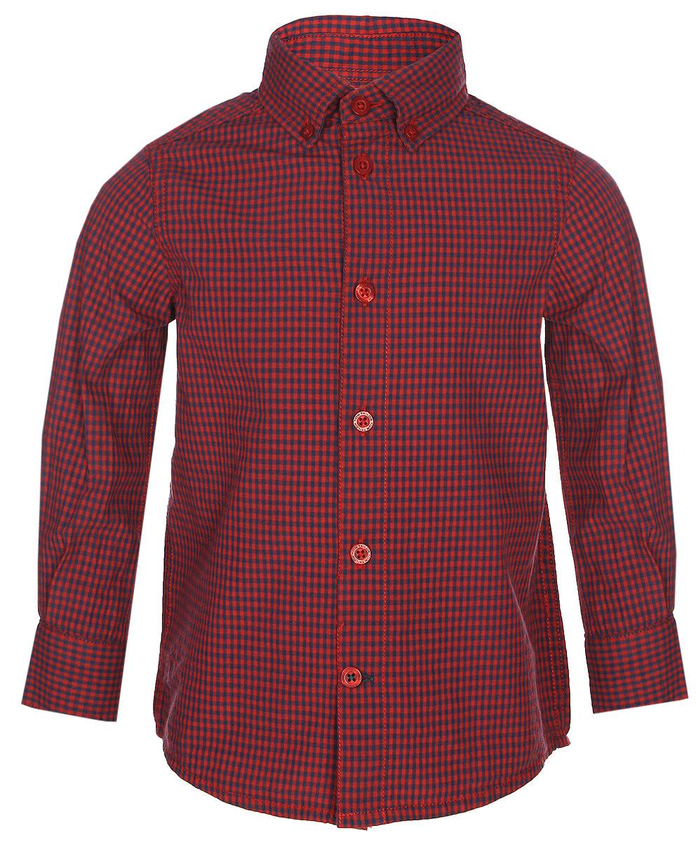 Рубашка для мальчика Tom Tailor, цвет: красный. 2033684.00.82_5479. Размер 116/122 рубашка для мальчика tom tailor цвет красный 2033684 00 82 5479 размер 104 110