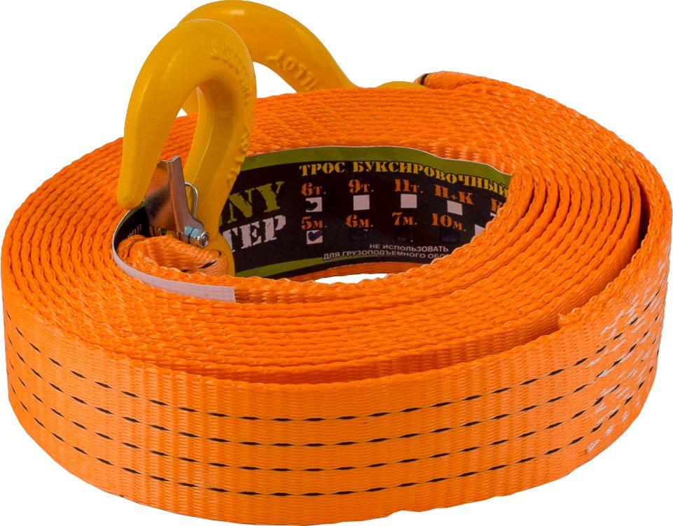 Стропа буксировочная KennyМастер, с крюками, цвет: оранжевый, 6 т, 5 мKM-BKK0605Стропа буксировочная KennyМастер предназначена для буксировки автомобиля на гибкой цепке. Трос изготовлен из полиэстеровой ленты прочностью на разрыв 7,2т, устойчив к истиранию и воздействию агрессивных сред, На концах крюки грузоподъемные из конструкционной стали.Длина: 5 м;Ширина ленты: 50 мм;Материал ленты: полиэстер;Исполнение: крюк/крюкГарантия: 1 год.