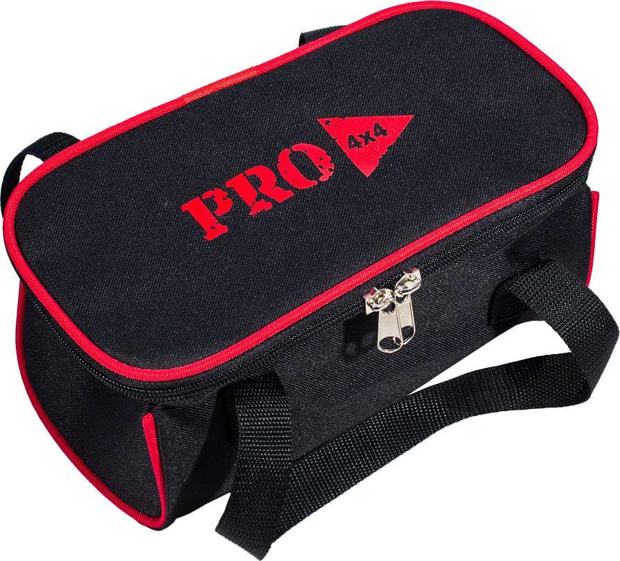 Сумка PRO-4x4, цвет: черный, 25 x 16 x 16 смPRO-BAG-000001Сумка PRO-4x4, изготовленная из прочного оксофорда, оснащена боковыми ручками.Изделие имеет одно основное отделение, которое застегивается на застежку-молнию. Такая сумка послужит удобным органайзером для ваших принадлежностей.