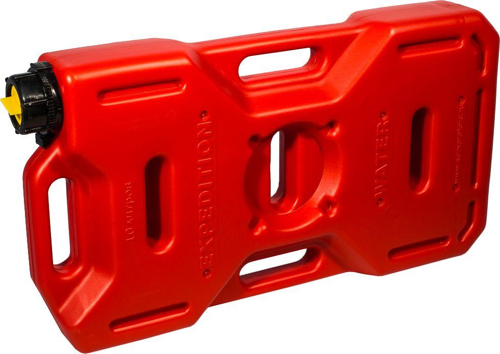 Канистра автомобильная Экстрим Драйв, цвет: красный, 10 лXD101RМногие утверждают, что данная тара имеет самую удобную форму на сегодняшний день. Экспедиционную канистру Экстрим можно закрепить где удобно, в ней присутствует множество ручек и отверстий для крепления в разных местах. Это может быть багажник, квадроцикл, мотоцикл, катер, джип, прицеп и т.д. В канистру плоскую Экстрим можно заливать любые виды жидкостей: вода, топливо, бензин, солярку, водка, пиво и многое другое. Принцип данной канистры в том чтобы удовлетворить потребности на отдыхе и в экстремальных условия. За счет плоской формы канистра Экстрим пригодится чтобы из нее сделать, например: столик или небольшую лавочку, ведь эта канистра выдерживает до 400 кг.