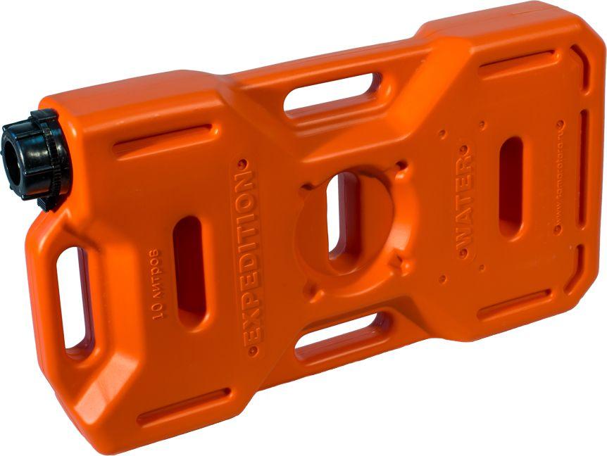 Канистра автомобильная Экстрим Плюс, цвет: оранжевый, 10 лXP101OМногие утверждают, что данная тара имеет самую удобную форму на сегодняшний день. Экспедиционную канистру Экстрим можно закрепить где удобно, в ней присутствует множество ручек и отверстий для крепления в разных местах. Это может быть багажник, квадроцикл, мотоцикл, катер, джип, прицеп и т.д. В канистру плоскую Экстрим можно заливать любые виды жидкостей: вода, топливо, бензин, солярку, водка, пиво и многое другое. Принцип данной канистры в том чтобы удовлетворить потребности на отдыхе и в экстремальных условия. За счет плоской формы канистра Экстрим пригодится чтобы из нее сделать, например: столик или небольшую лавочку, ведь эта канистра выдерживает до 400 кг.