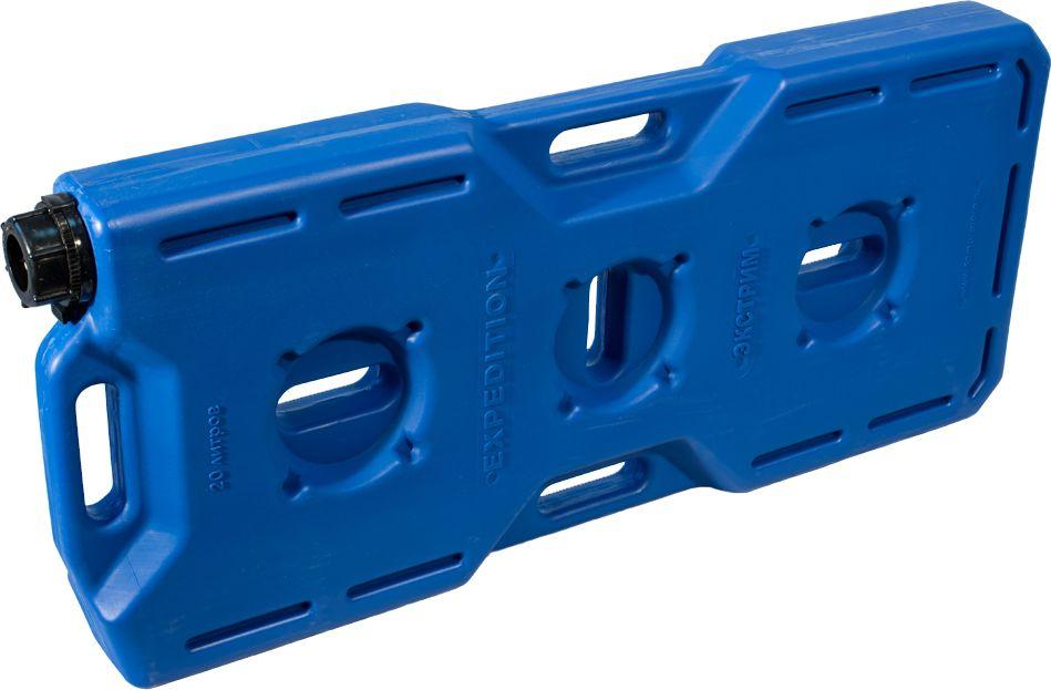 Канистра автомобильная Экстрим Плюс, цвет: синий, 20 лXP201SМногие утверждают, что данная тара имеет самую удобную форму на сегодняшний день. Экспедиционную канистру Экстрим можно закрепить где удобно, в ней присутствует множество ручек и отверстий для крепления в разных местах. Это может быть багажник, квадроцикл, мотоцикл, катер, джип, прицеп и т.д. В канистру плоскую Экстрим можно заливать любые виды жидкостей: вода, топливо, бензин, солярку, водка, пиво и многое другое. Принцип данной канистры в том чтобы удовлетворить потребности на отдыхе и в экстремальных условия. За счет плоской формы канистра Экстрим пригодится чтобы из нее сделать, например: столик или небольшую лавочку, ведь эта канистра выдерживает до 400 кг.