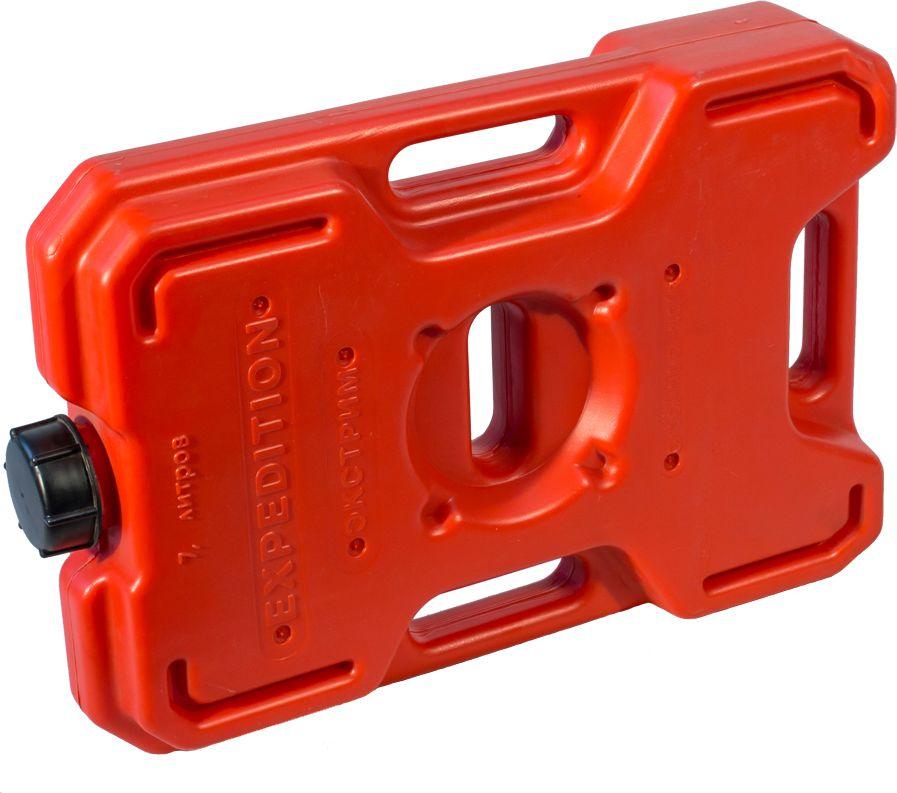 Канистра автомобильная Экстрим Плюс, цвет: красный, 7 лXS071RМногие утверждают, что данная тара имеет самую удобную форму на сегодняшний день. Экспедиционную канистру Экстрим можно закрепить где удобно, в ней присутствует множество ручек и отверстий для крепления в разных местах. Это может быть багажник, квадроцикл, мотоцикл, катер, джип, прицеп и т.д. В канистру плоскую Экстрим можно заливать любые виды жидкостей: вода, топливо, бензин, солярку, водка, пиво и многое другое. Принцип данной канистры в том чтобы удовлетворить потребности на отдыхе и в экстремальных условия. За счет плоской формы канистра Экстрим пригодится чтобы из нее сделать, например: столик или небольшую лавочку, ведь эта канистра выдерживает до 400 кг.