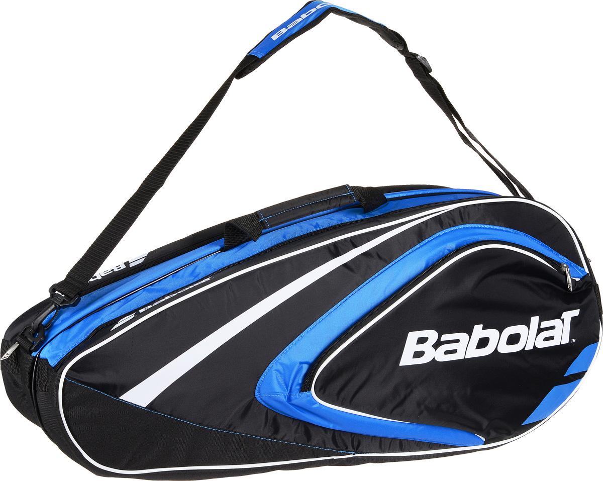 Чехол для теннисных ракеток Babolat  Club , на 6 ракеток, цвет: синий - Теннис