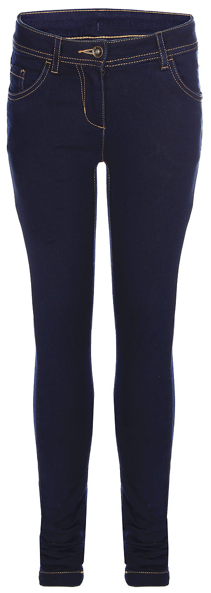 Джинсы для девочки Tom Tailor, цвет: темно-синий. 6204227.09.40_1100. Размер 1766204227.09.40_1100Стильные джинсы для девочки Tom Tailor, выполненные из высококачественного материала, станут отличным дополнением к гардеробу вашего ребенка. Модель прямого кроя и стандартной посадки на талии застегиваются на пуговицу и имеют ширинку на застежке-молнии. На поясе имеются шлевки для ремня. Модель представляет собой классическую пятикарманку: два втачных и один маленький накладной кармашек спереди и два накладных кармана сзади.
