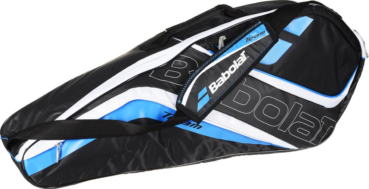 Чехол для теннисных ракеток Babolat  Raket Holder Team Line , на 3 ракетки, цвет: темно-синий, белый - Теннис