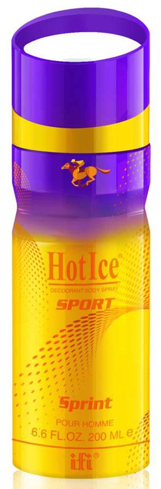 Hot Ice Sport Дезодорант Sprint M Deo Spr, 200 мл215984Аромат для мужчин, движущихся к своей цели на полной скорости. Начальные ноты: лайм, бергамот Средние ноты: кардамон, корица База: янтарь, ваниль, кедр