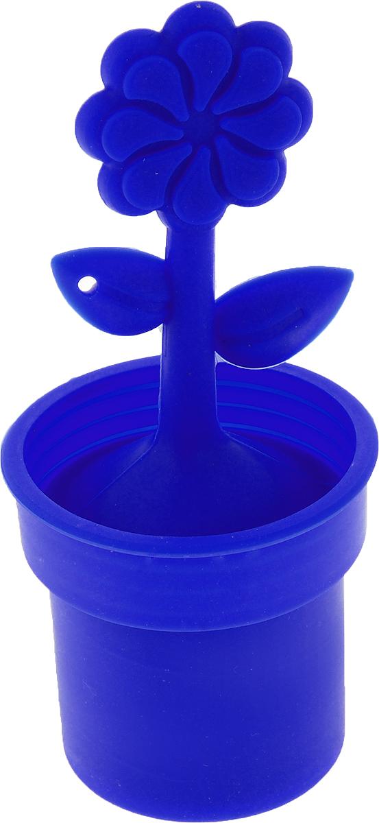 Ситечко для чая Доляна Ромашка, цвет: синий, 12 х 5 см861121_синийСитечко для чая Доляна Роза поможет вам быстро заварить листовой чай прямо в кружке. Все, что нужно - это насыпать внутрь ситечка смесь и плотно закрыть его крышкой. Чтобы не загрязнить стол, предусмотрена подставка. Яркий дизайн предмета сделает атмосферу чаепития непринужденной. Изделие выполнено из силикона, оно не впитывает запахов и не передает их, а также легко отмывается от налета. Оригинальный предмет станет отличным подарком взрослым и детям. Высота изделия (с подставкой): 12 см. Диаметр ситечка: 5 см.