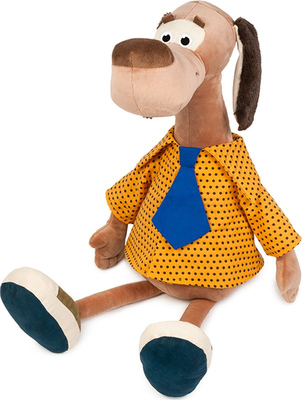 Maxitoys Luxury Мягкая игрушка Пес Барбос в рубашке 23 см maxitoys luxury мягкая игрушка пес ватсон с тапком 25 см
