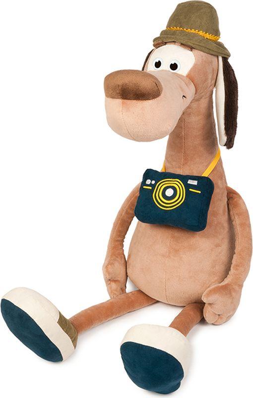 Maxitoys Luxury Мягкая игрушка Пес Барбос с фотоаппаратом 36 см maxitoys подушка с ручками