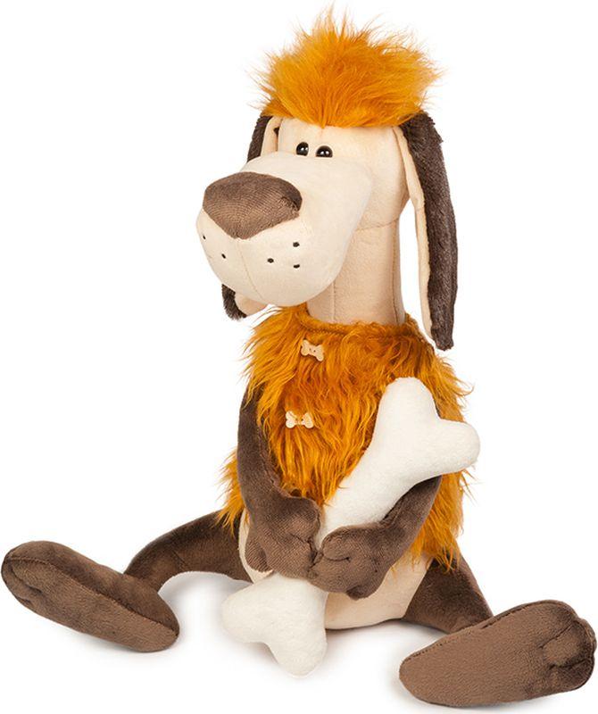 Maxitoys Luxury Мягкая игрушка Пес Робинзон с косточкой 36 см maxitoys подушка с ручками