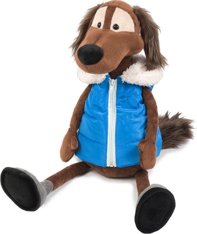 Maxitoys Luxury Мягкая игрушка Пес Шерлок в жилетке 36 см maxitoys подушка с ручками