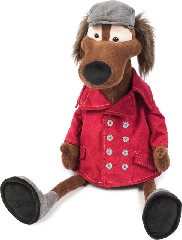 Maxitoys Luxury Мягкая игрушка Пес Шерлок в куртке 28 см maxitoys luxury мягкая игрушка пес ватсон с тапком 25 см