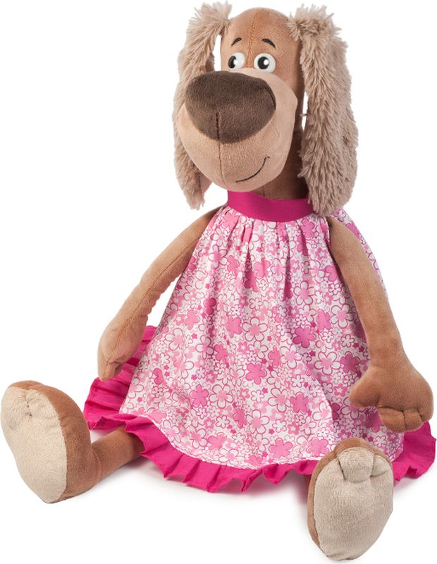 Maxitoys Luxury Мягкая игрушка Собачка Зиночка в платье 25 см maxitoys подушка с ручками