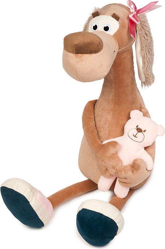 Maxitoys Luxury Мягкая игрушка Собачка Мила с мишкой 36 см maxitoys подушка с ручками
