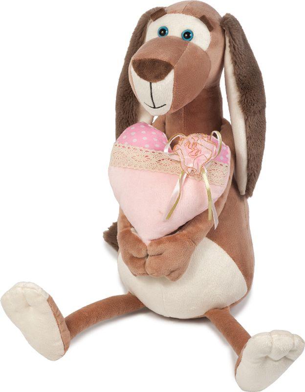 Maxitoys Luxury Мягкая игрушка Собачка Наденька с сердцем 25 см maxitoys подушка с ручками
