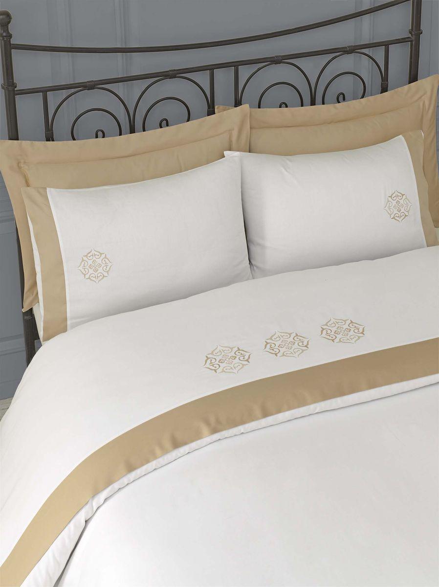 Комплект белья Issimo Home Blanche, евро, наволочки 50x70, цвет: бежевый. 00000005422 полотенце бамбуковое issimo home valencia цвет розовый 90 x 150 см