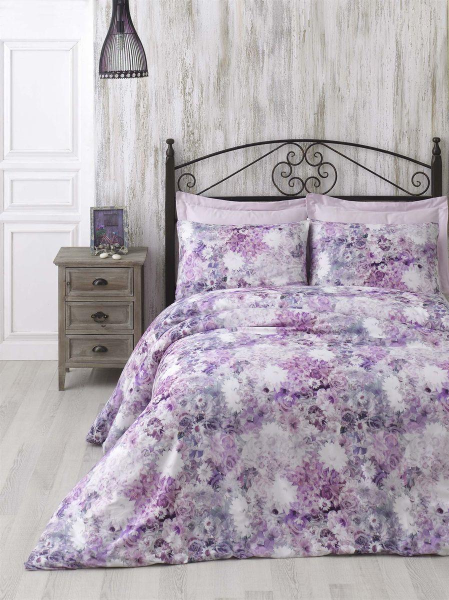 Комплект белья Issimo Home Grace, евро, наволочки 50x70, цвет: розовый. 00000005436 полотенце бамбуковое issimo home valencia цвет розовый 90 x 150 см
