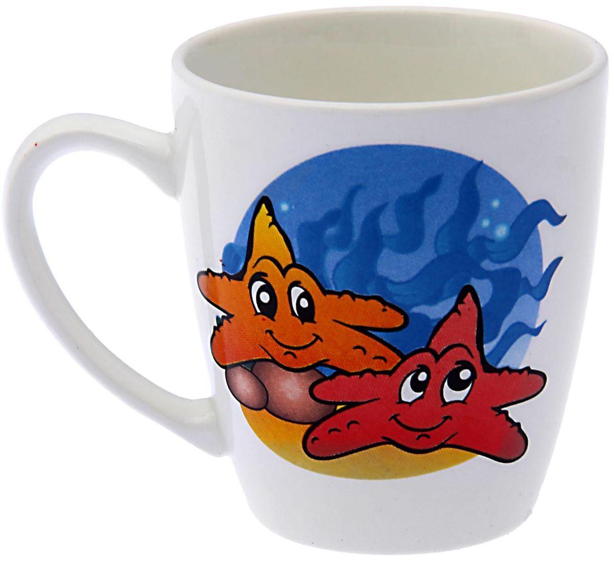 Кубаньфарфор Кружка детская Морской мир 220 мл 11317371131737Фаянсовая детская посуда с забавным рисунком понравится каждому малышу. Изделие из качественного материала станет правильным выбором для повседневной эксплуатации и поможет превратить каждый прием пищи в радостное приключение.Особенности:- простота мойки,- стойкость к запахам,- насыщенный цвет.