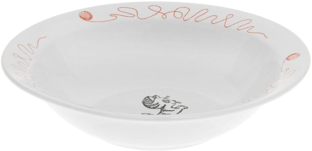 Кубаньфарфор Миска детская Котята 500 мл1165492Фаянсовая детская посуда с забавным рисунком понравится каждому малышу. Изделие из качественного материала станет правильным выбором для повседневной эксплуатации и поможет превратить каждый прием пищи в радостное приключение.Особенности:- простота мойки,- стойкость к запахам,- насыщенный цвет.