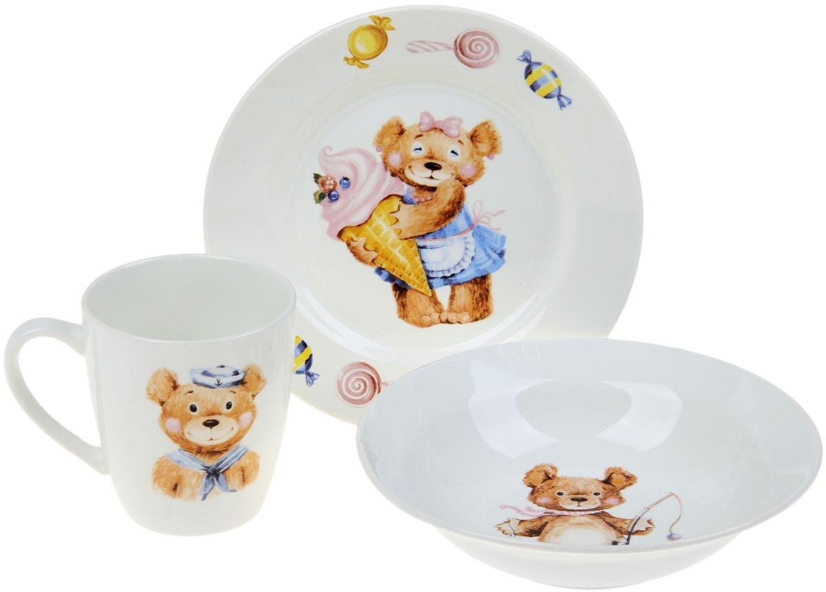 Кубаньфарфор Набор посуды для кормления Медвежата -  Все для детского кормления