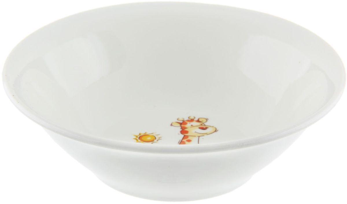 Кубаньфарфор Салатник Зоопарк, 270 мл1333186Фаянсовая детская посуда с забавным рисунком понравится каждому малышу. Изделие из качественного материала станет правильным выбором для повседневной эксплуатации и поможет превратить каждый прием пищи в радостное приключение. Особенности: - простота мойки, - стойкость к запахам, - насыщенный цвет.