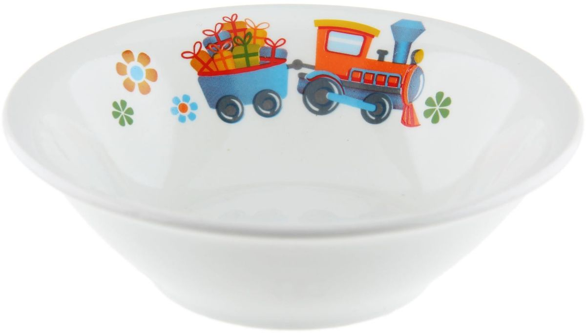 Кубаньфарфор Салатник Паровозик1301336Фаянсовая детская посуда с забавным рисунком понравится каждому малышу. Изделие из качественного материала станет правильным выбором для повседневной эксплуатации и поможет превратить каждый прием пищи в радостное приключение.Особенности:- простота мойки,- стойкость к запахам,- насыщенный цвет.