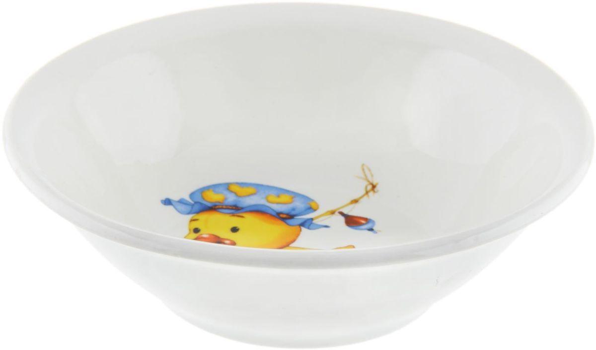 Кубаньфарфор Салатник Утенок, медвежонок1301339Фаянсовая детская посуда с забавным рисунком понравится каждому малышу. Изделие из качественного материала станет правильным выбором для повседневной эксплуатации и поможет превратить каждый прием пищи в радостное приключение.Особенности:- простота мойки,- стойкость к запахам,- насыщенный цвет.