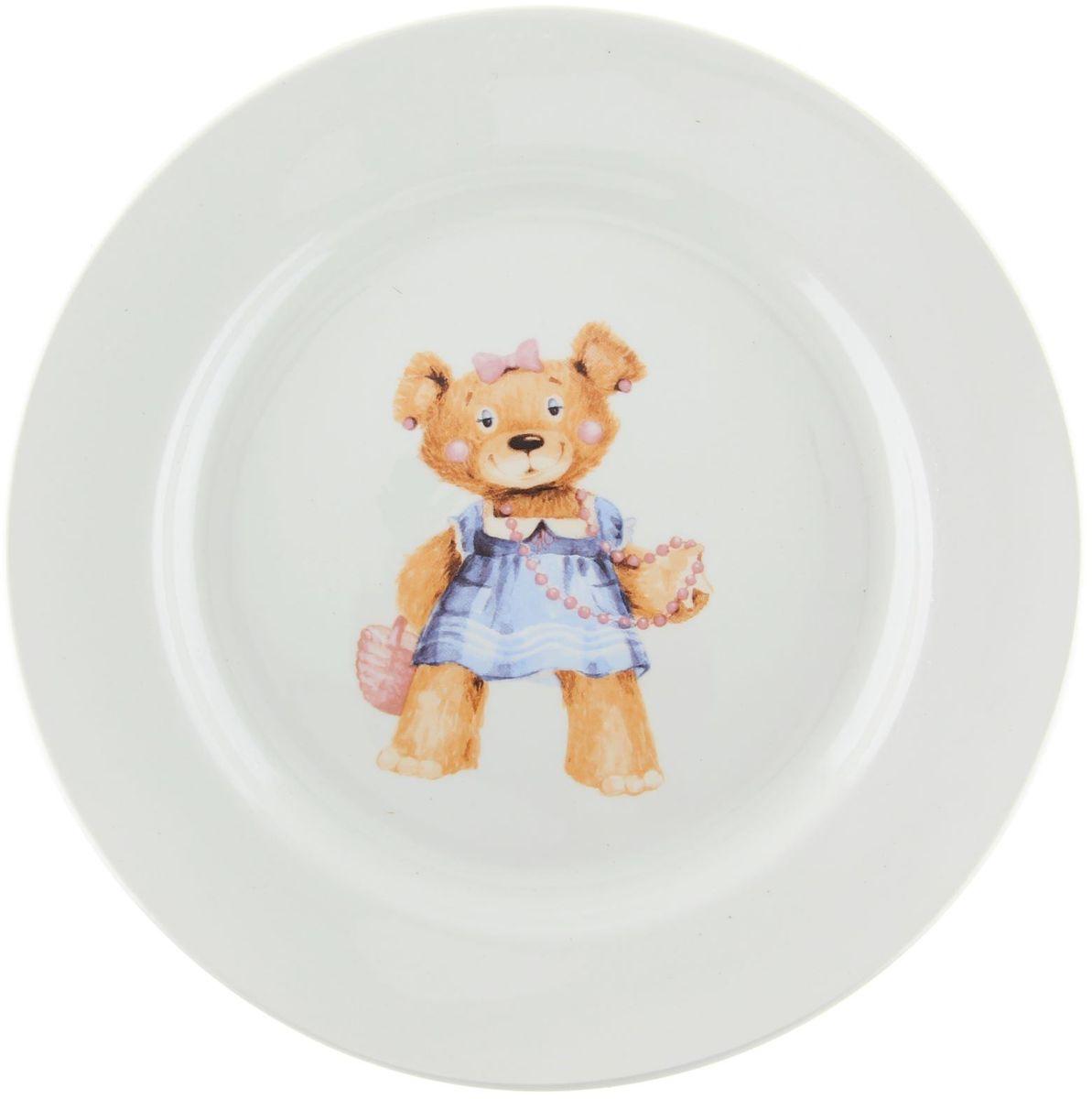 Кубаньфарфор Тарелка детская Медвежата детская посуда