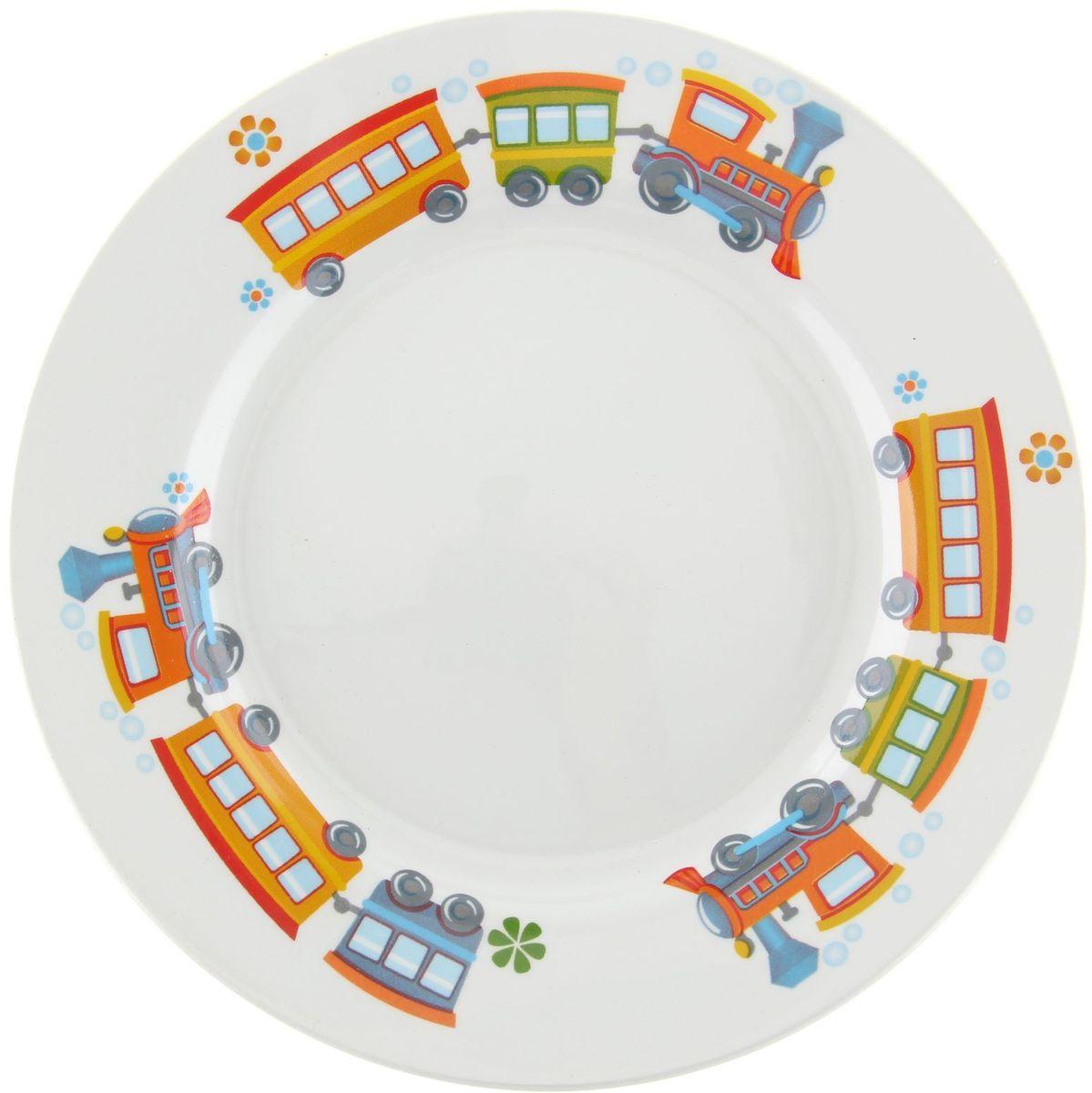 Кубаньфарфор Тарелка детская Паровозик1301380Фаянсовая детская посуда с забавным рисунком понравится каждому малышу. Изделие из качественного материала станет правильным выбором для повседневной эксплуатации и поможет превратить каждый прием пищи в радостное приключение.Особенности:- простота мойки,- стойкость к запахам,- насыщенный цвет.