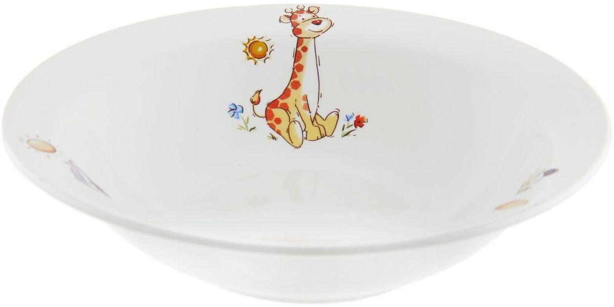 Кубаньфарфор Миска детская Зоопарк 500 мл1301403Фаянсовая детская посуда с забавным рисунком понравится каждому малышу. Изделие из качественного материала станет правильным выбором для повседневной эксплуатации и поможет превратить каждый прием пищи в радостное приключение.Особенности:- простота мойки,- стойкость к запахам,- насыщенный цвет.