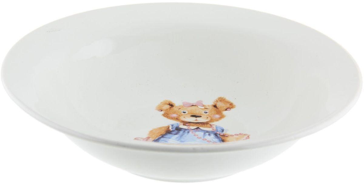 Кубаньфарфор Миска детская Медвежата 250 мл1301433Фаянсовая детская посуда с забавным рисунком понравится каждому малышу. Изделие из качественного материала станет правильным выбором для повседневной эксплуатации и поможет превратить каждый прием пищи в радостное приключение.Особенности:- простота мойки,- стойкость к запахам,- насыщенный цвет.