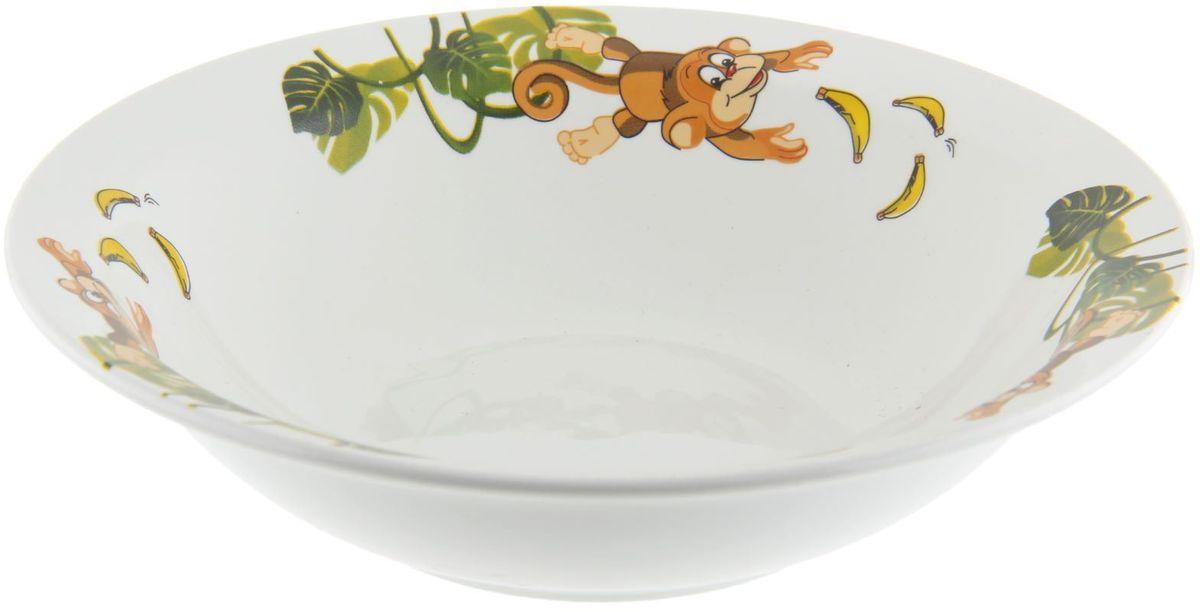 Кубаньфарфор Миска детская Обезьянки 250 мл1301434Фаянсовая детская посуда с забавным рисунком понравится каждому малышу. Изделие из качественного материала станет правильным выбором для повседневной эксплуатации и поможет превратить каждый прием пищи в радостное приключение.Особенности:- простота мойки,- стойкость к запахам,- насыщенный цвет.
