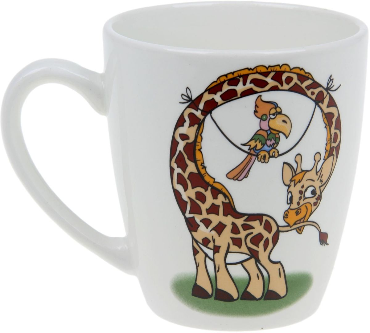 Кубаньфарфор Кружка детская Жираф 220 мл 14007971400797Фаянсовая детская кружка с забавным рисунком понравится каждому малышу. Изделие из качественного материала станет правильным выбором для повседневной эксплуатации и поможет превратить каждый прием пищи в радостное приключение. Особенности: - простота мойки, - стойкость к запахам, - насыщенный цвет.