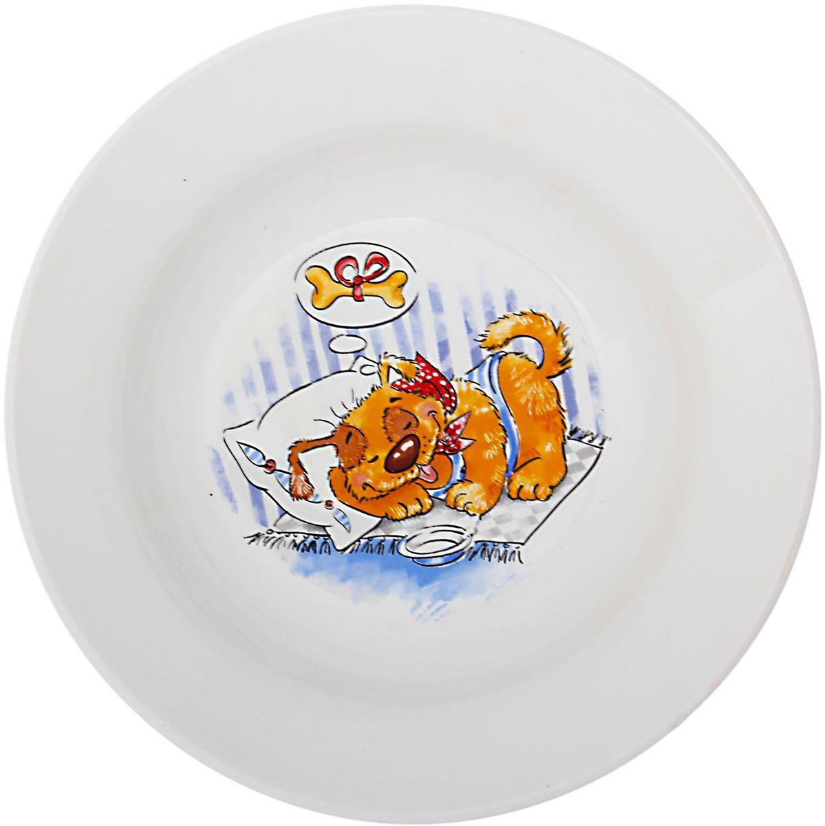 Кубаньфарфор Тарелка детская Дружок 14949171494917Фаянсовая детская посуда с забавным рисунком понравится каждому малышу. Изделие из качественного материала станет правильным выбором для повседневной эксплуатации и поможет превратить каждый прием пищи в радостное приключение.Особенности:- простота мойки,- стойкость к запахам,- насыщенный цвет.