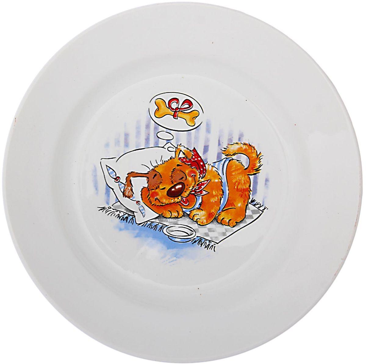 Кубаньфарфор Тарелка детская Дружок1494994Фаянсовая детская посуда с забавным рисунком понравится каждому малышу. Изделие из качественного материала станет правильным выбором для повседневной эксплуатации и поможет превратить каждый прием пищи в радостное приключение.Особенности:- простота мойки,- стойкость к запахам,- насыщенный цвет.