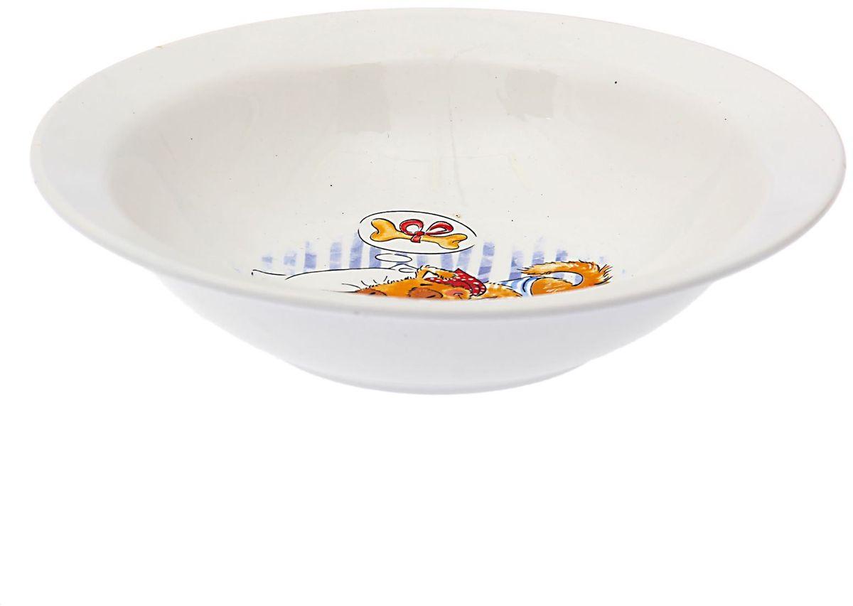 Кубаньфарфор Миска детская Дружок 250 мл1495006Фаянсовая детская посуда с забавным рисунком понравится каждому малышу. Изделие из качественного материала станет правильным выбором для повседневной эксплуатации и поможет превратить каждый прием пищи в радостное приключение.Особенности:- простота мойки,- стойкость к запахам,- насыщенный цвет.