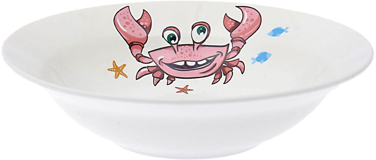 Кубаньфарфор Миска детская Море 250 мл1495008Фаянсовая детская миска Кубаньфарфор Море с забавным рисунком понравится каждому малышу. Изделие из качественного материала станет правильным выбором для повседневной эксплуатации и поможет превратить каждый прием пищи в радостное приключение.Миска легко моется, не впитывает запахи, а рисунок имеет насыщенный цвет. Это обеспечивает долговечность и безопасность использования. Такая мисочка будет долго радовать малыша и непременно станет его любимой посудой.
