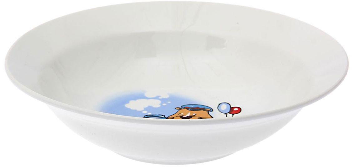Кубаньфарфор Миска детская Хома 250 мл1495012Фаянсовая детская посуда с забавным рисунком понравится каждому малышу. Изделие из качественного материала станет правильным выбором для повседневной эксплуатации и поможет превратить каждый прием пищи в радостное приключение.Особенности:- простота мойки,- стойкость к запахам,- насыщенный цвет.
