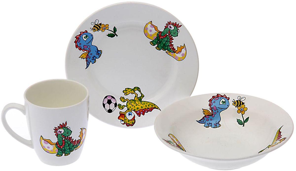 Кубаньфарфор Набор посуды для кормления Динозаврики