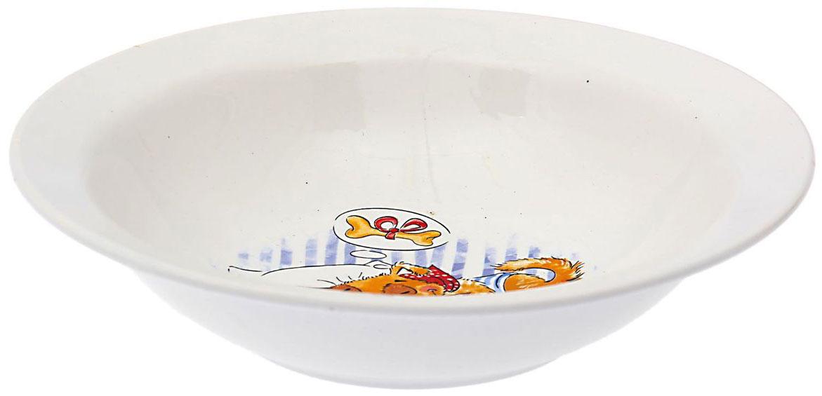 Кубаньфарфор Миска детская Дружок 500 мл1495027Фаянсовая детская посуда с забавным рисунком понравится каждому малышу. Изделие из качественного материала станет правильным выбором для повседневной эксплуатации и поможет превратить каждый прием пищи в радостное приключение.Особенности:- простота мойки,- стойкость к запахам,- насыщенный цвет.