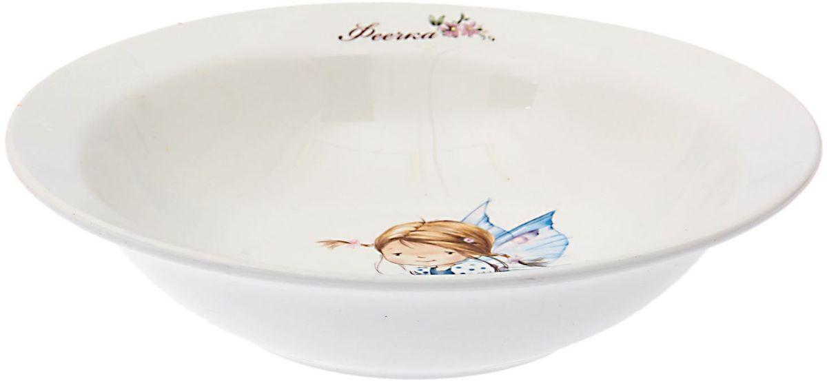 Кубаньфарфор Миска детская Феечки 500 мл1495033Фаянсовая детская посуда с забавным рисунком понравится каждому малышу. Изделие из качественного материала станет правильным выбором для повседневной эксплуатации и поможет превратить каждый прием пищи в радостное приключение.Особенности:- простота мойки,- стойкость к запахам,- насыщенный цвет.