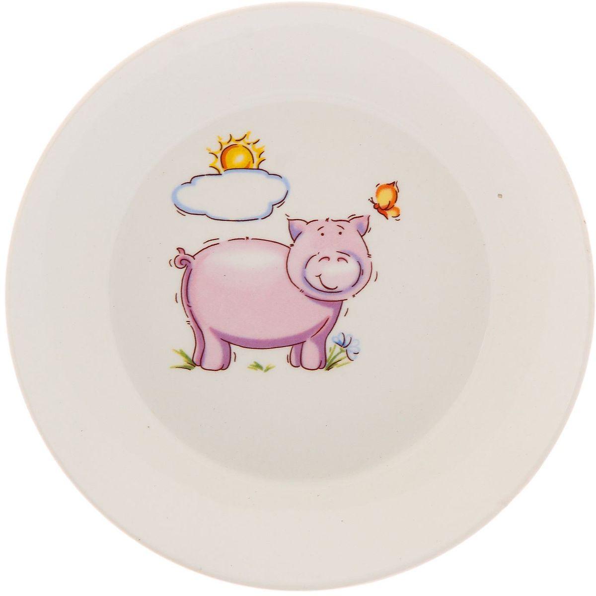 Кубаньфарфор Блюдце Зоопарк2220070Фаянсовая детская посуда с забавным рисунком понравится каждому малышу. Изделие из качественного материала станет правильным выбором для повседневной эксплуатации и поможет превратить каждый прием пищи в радостное приключение.Особенности:- простота мойки,- стойкость к запахам,- насыщенный цвет.