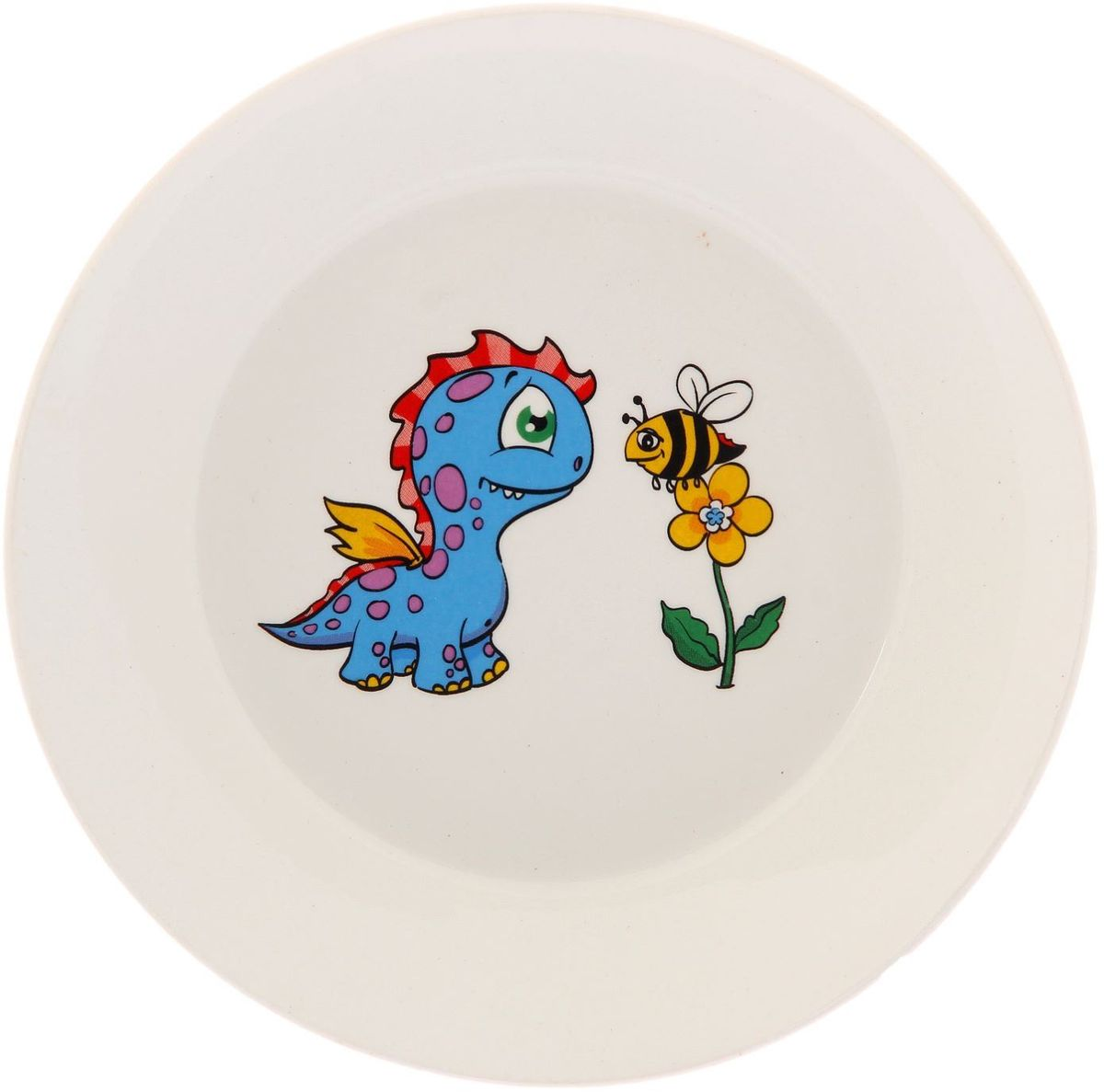 Кубаньфарфор Блюдце Динозаврики2220071Фаянсовая детская посуда с забавным рисунком понравится каждому малышу. Изделие из качественного материала станет правильным выбором для повседневной эксплуатации и поможет превратить каждый прием пищи в радостное приключение.Особенности:- простота мойки,- стойкость к запахам,- насыщенный цвет.
