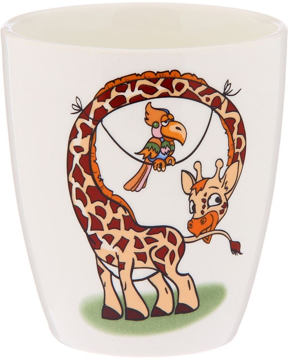 Кубаньфарфор Кружка детская Жираф 260 мл2220096Фаянсовая детская кружка с забавным рисунком понравится каждому малышу. Изделие из качественного материала станет правильным выбором для повседневной эксплуатации и поможет превратить каждый прием пищи в радостное приключение. Особенности: - простота мойки, - стойкость к запахам, - насыщенный цвет.