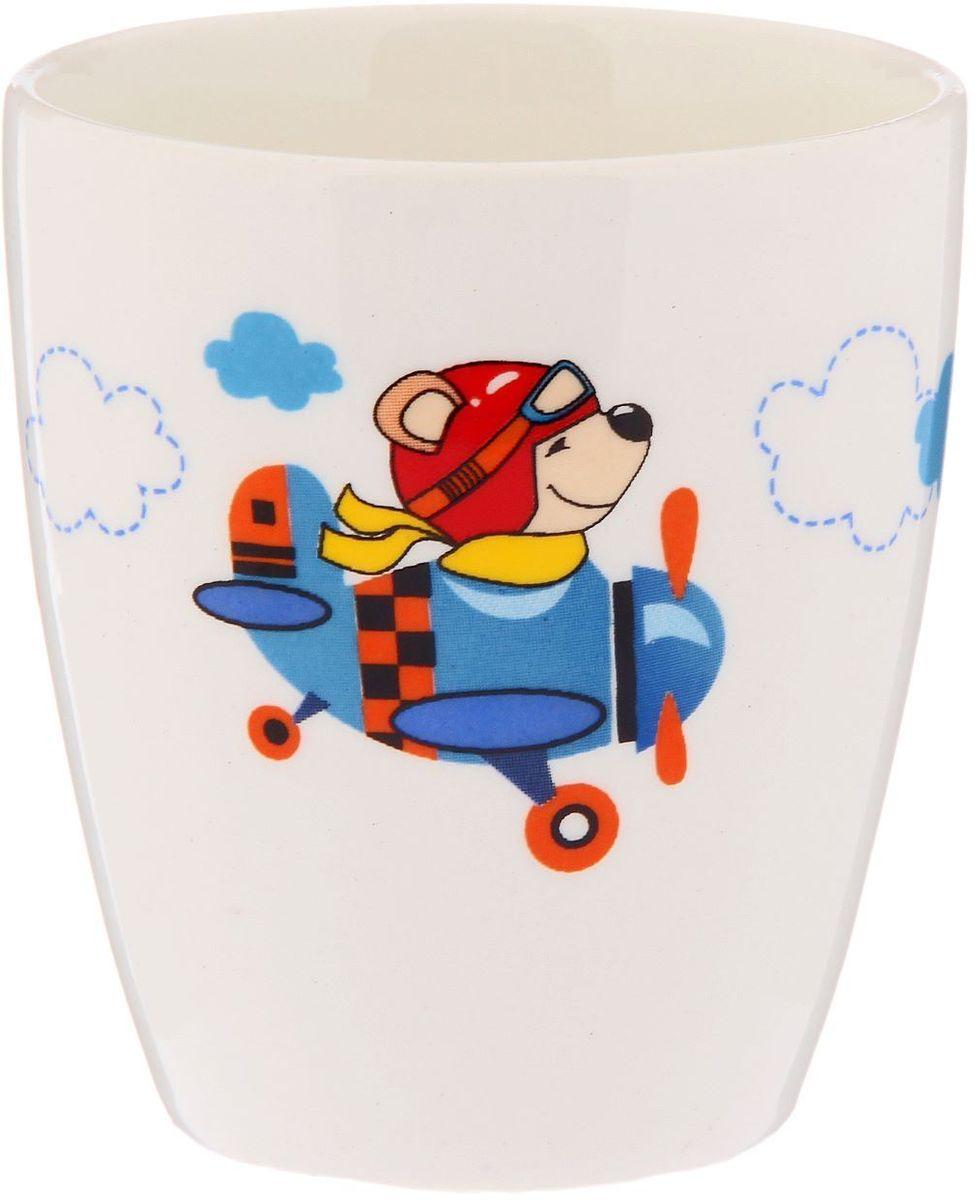 Кубаньфарфор Кружка детская Пилот 220 мл2220108Фаянсовая детская посуда с забавным рисунком понравится каждому малышу. Изделие из качественного материала станет правильным выбором для повседневной эксплуатации и поможет превратить каждый прием пищи в радостное приключение.Особенности:- простота мойки,- стойкость к запахам,- насыщенный цвет.