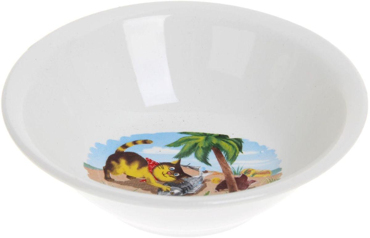Кубаньфарфор Салатник Пираты, 270 мл694541Фаянсовая детская посуда с забавным рисунком понравится каждому малышу. Изделие из качественного материала станет правильным выбором для повседневной эксплуатации и поможет превратить каждый прием пищи в радостное приключение.Особенности:- простота мойки,- стойкость к запахам,- насыщенный цвет.