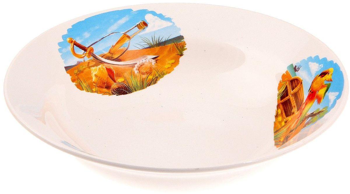 Кубаньфарфор Миска детская Пираты 250 мл694554Фаянсовая детская посуда с забавным рисунком понравится каждому малышу. Изделие из качественного материала станет правильным выбором для повседневной эксплуатации и поможет превратить каждый прием пищи в радостное приключение.Особенности:- простота мойки,- стойкость к запахам,- насыщенный цвет.